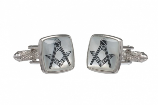 Mother of Pearl Square & Compass Cufflinks